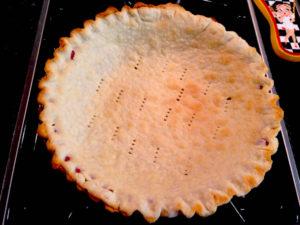 baked single blind pie crust