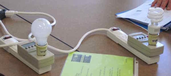 Comparing light bulbs STEM energy activity