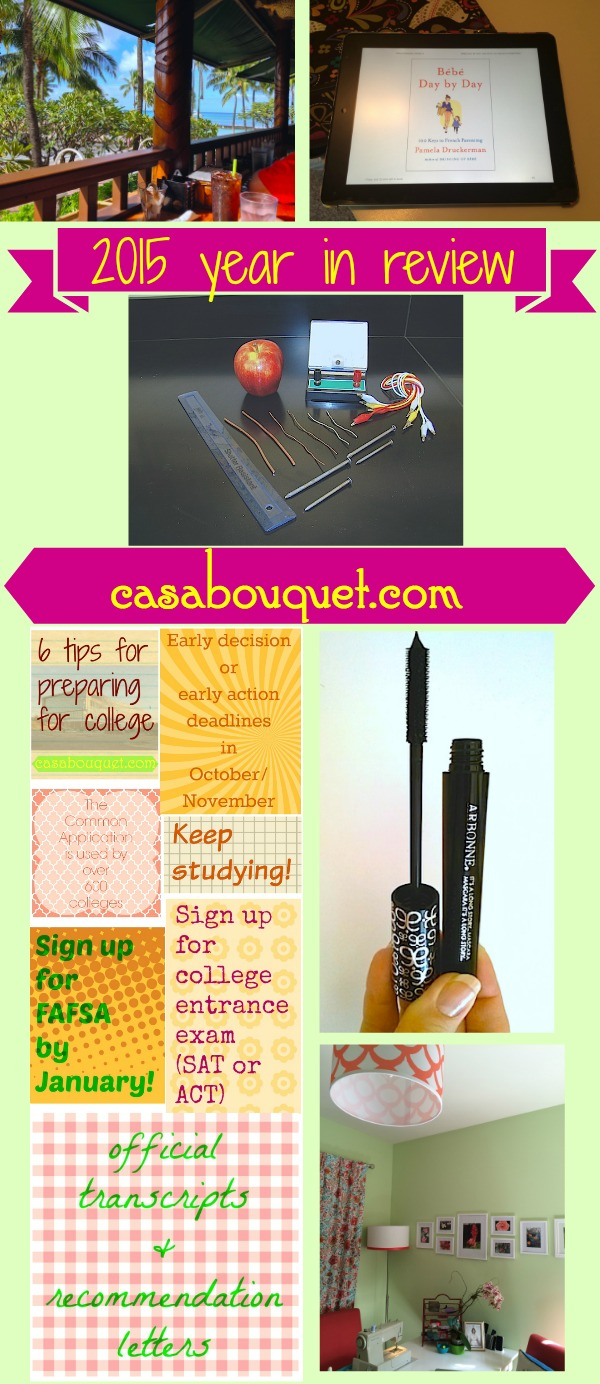 Reflecting on how far I've come with Casa Bouquet and share 2015 year in review, I'm sharing some of the top posts for 2015.