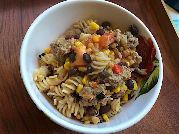 Pasta with ground turkey – gluten free dairy free