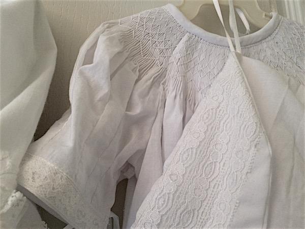 Baptism gown for baby – smocking heirloom bishop