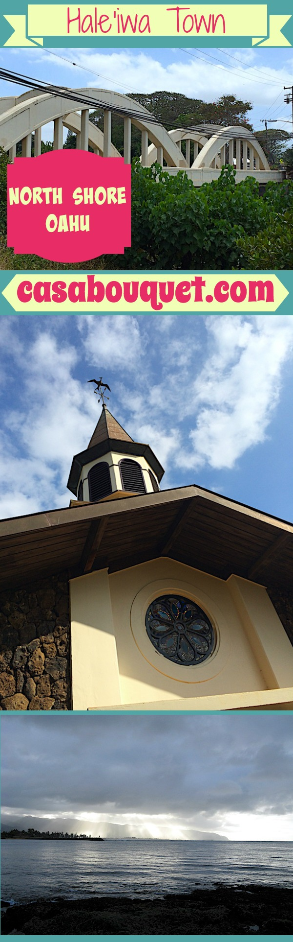 Haleiwa town on the North Shore has interesting things to do on Oahu. Restaurants, shopping, surfing and other sports, and Liliuo'kalani Church.