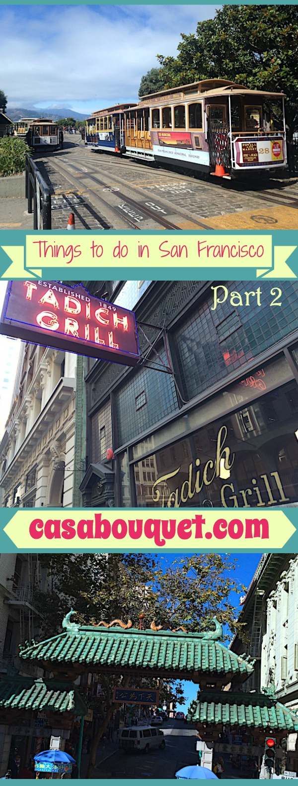 Things to do in San Francisco include Buena Vista Café, Tadich Grill, Fisherman's Wharf, and Chinatown.