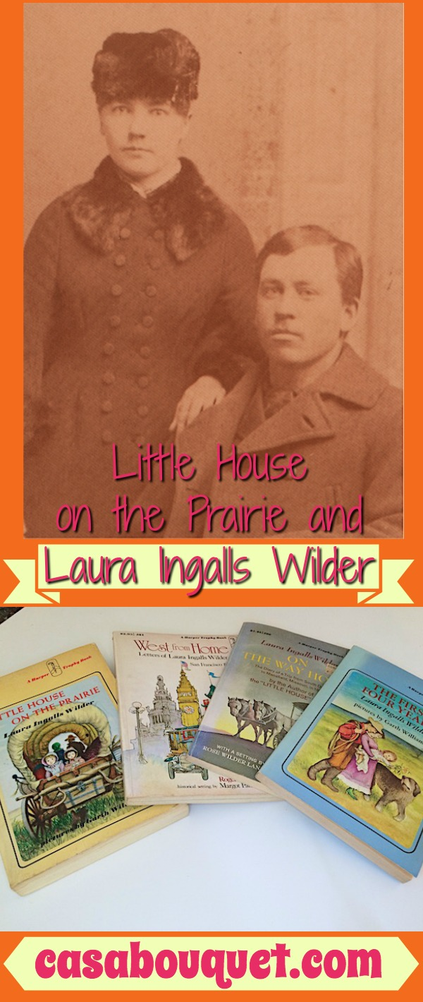 Laura Ingalls Wilder wrote Little House on the Prairie novels for children about American frontier life (1870-1890). Garth Williams illustrator in 1950s.