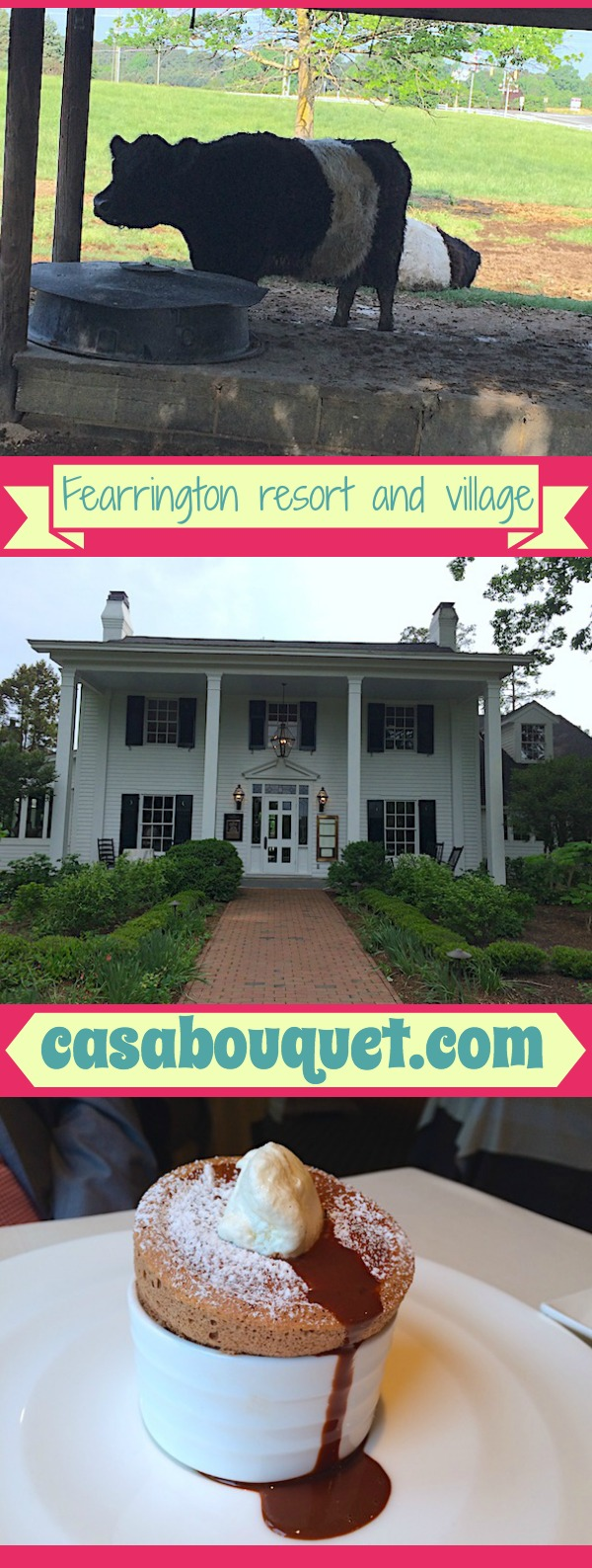 Fearrington resort and village in North Carolina's Piedmont has Relais & Chateaux inn and restaurant. A luxury resort in a country farm setting.