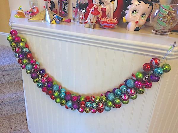 Christmas garland – ornament swag Christmas craft