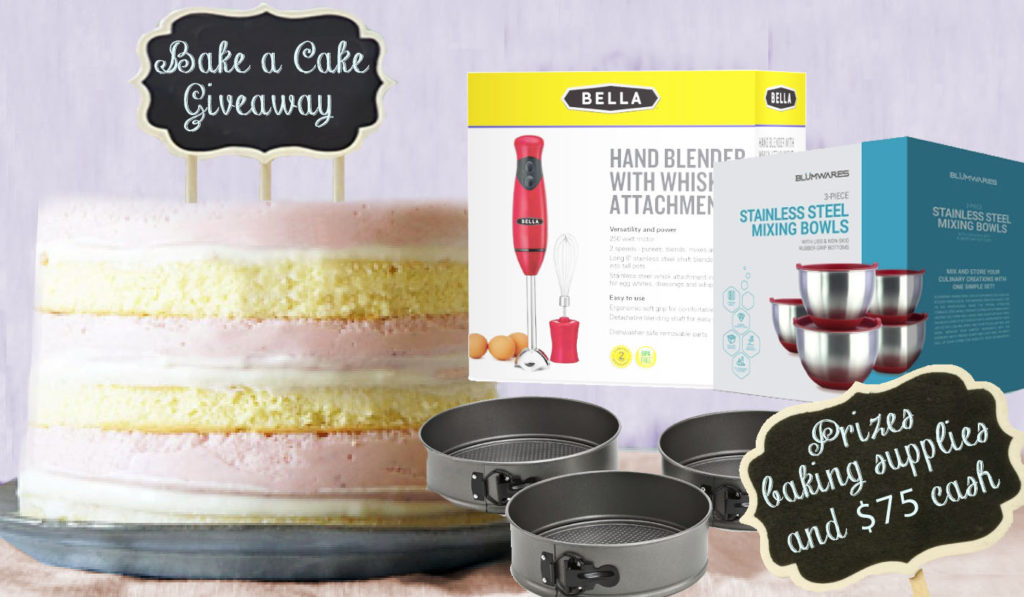 bake a cake giveaway prizes