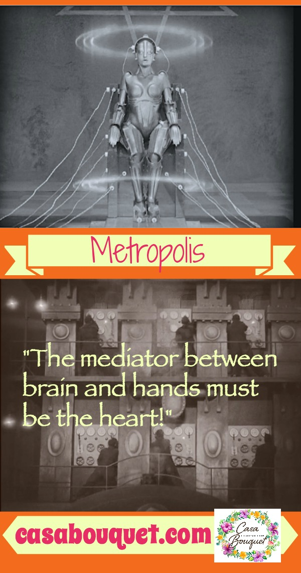 Metropolis is a classic science fiction movie with a strong cultural vision. Fritz Lang created world of class divide with a beautiful robot. Must see for film buffs. Lisa's Home Bijou: Metropolis (1927)